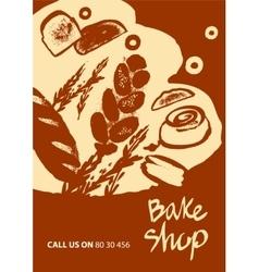 Set of of bread for menu bake shop vector image vector image