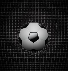 Soccer ball in goal design vector