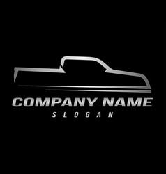 sport truck logo black background vector image