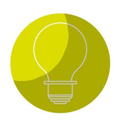 Sticker energy light bulb icon vector