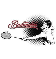 Summer kinds of sports Badminton vector image