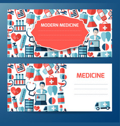 Template or cover design with medical elements vector