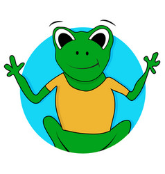 toad and frog icon vector image vector image