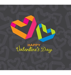 Valentine card with origami heart vector image