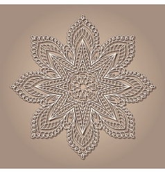 Vintage lace doily vector image