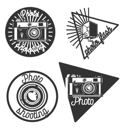 Vintage photographer emblems vector