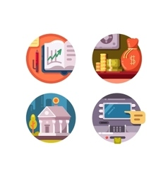 Financial institution money vector image