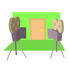 Filming icon cartoon style vector
