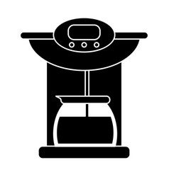 Coffee maker pot machine pictogram vector