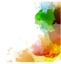 Bright colorful paint splatter background design vector