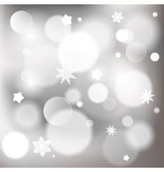 Abstract christmas background with shiny bokeh vector