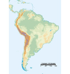 South america physical vector