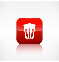 Trash can icon recycle symbol waste container vector