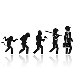 Evolution of the man stick figure pictogram icon vector