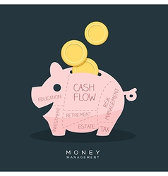 Money management piggy bank vector