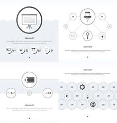 Set 4 item design concept office black and white vector