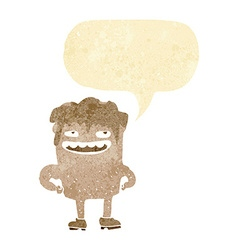 Cartoon bad tooth with speech bubble vector