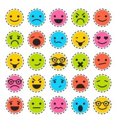 Emoticons set of characters in different emotions vector