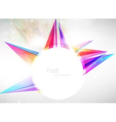 Bright abstract ornament vector