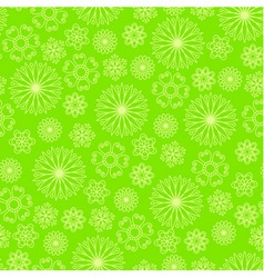 Bright green background with abstract flowers vector image vector image