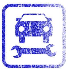Car repair framed textured icon vector