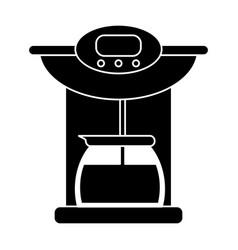 Coffee maker pot machine pictogram vector