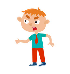 color of a boy standing and vector image