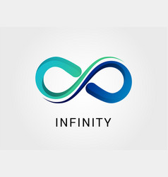 colorful abstract infinity icon vector image