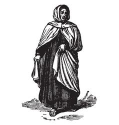 Dark brown robes vintage engraving vector