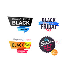 Discount -25 off only today vector