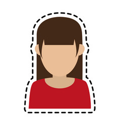 Faceless woman icon image vector