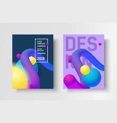 gradient modern poster vector image vector image