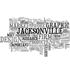 Jacksonville graphic design text background word vector