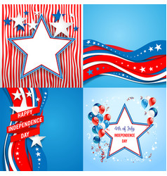 July fourth holiday set vector