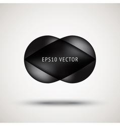 Luxury black bubble badge vector