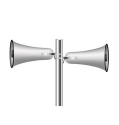 Old loudspeaker system in silver design vector