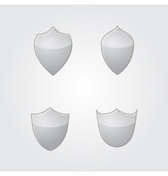 set of modern gray glass shields vector image
