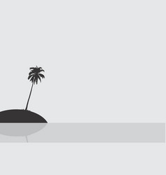 silhouette of an island vector image