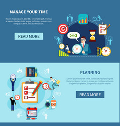 time management banners set vector image