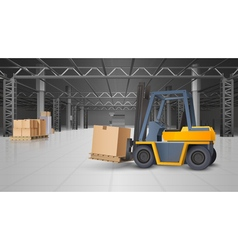 Warehouse Interior And Logistics Background vector image vector image