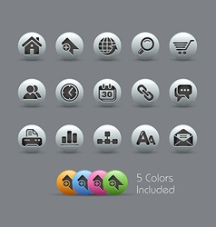 Website Internet Icons Pearly Series vector image vector image