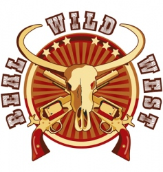 Real Wild West vector image