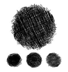 Pencil drawn circles bubbles vector