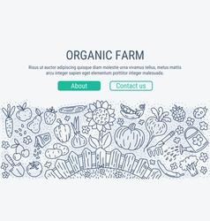 Organic farm header vector