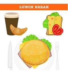 Lunch break vector