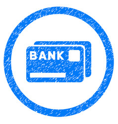 Bank cards rounded grainy icon vector