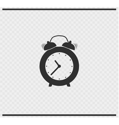 Clock icon black color on transparent vector