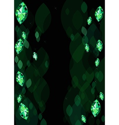 Abstract background with emeralds vector