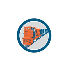 Diesel Train Circle Retro vector image