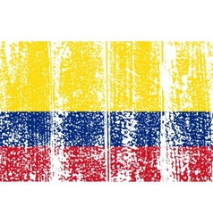 Colombian grunge flag vector
